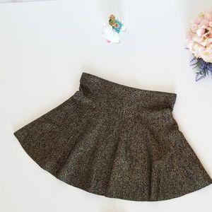 Candies sparkle black and gold skater skirt